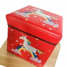 Детский складной пуф-короб для хранения 2 в 1, 29x30x30 см