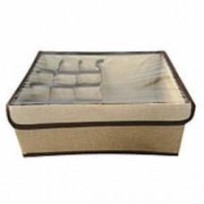 Короб для хранения с ячейками и прозрачной крышкой, 44x27x11 см