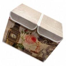 Двухсекционный складной короб для хранения Биг-Бен, 47х31х34 см