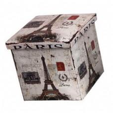 Двухсекционный складной короб для хранения Париж, 47x31x34 см