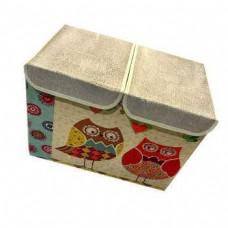 Двухсекционный складной короб для хранения Совушки, 47x31x34 см
