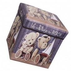 Складной пуфик-короб для хранения вещей, 29x29x31 см