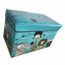 Детский складной пуф-короб для хранения 2 в 1 большой, 48x28x30 см