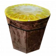 Складной пуфик-контейнер 2 в 1, 31x30 см
