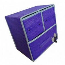Складной мини-комод с 3 ящиками, 30x20x28 см