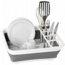 Складная силиконовая сушилка-поддон для посуды, 38x29x12 см